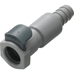 3 / 8 Hose Barb Valved In-Line Polypropylene Coupling Body