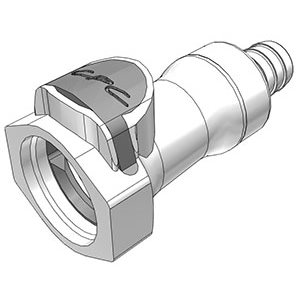 1 / 2 Hose Barb Valved In-Line Polysulfone Coupling Body