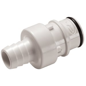 1 / 2 Hose Barb Valved In-Line Polysulfone Coupling Insert