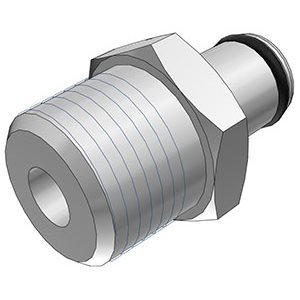3 / 8 NPT Non-Valved Chrome-plated Brass Coupling Insert