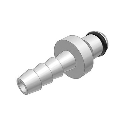 3 / 16 Hose Barb Non-Valved In-Line Chrome-plated Brass Coupling Insert