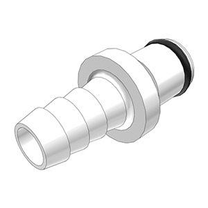 5 / 16 Hose Barb Non-Valved In-Line Acetal Coupling Insert