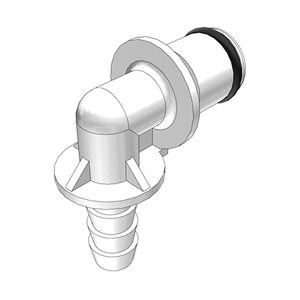 1 / 4 Hose Barb Non-Valved Elbow Acetal Coupling Insert