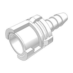 1 / 8 Hose Barb Valved In-Line Acetal Coupling Body